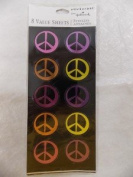 Peace Sign Stickers - Fun Scrapbook Stickers - 80 Pieces