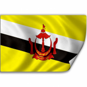 Sticker (Decal) with Flag of Brunei Darussalam