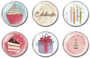 Durham All Kinds Of Happy Epoxy Brads (6 Per Package) - Sweet Treats Icon