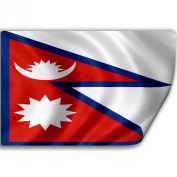 Sticker (Decal) with Flag of Nepal