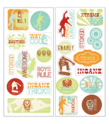 Autumn Leaves(R) Minute Scrapbooker Stickers - Boy Icons