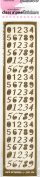 Numbers Gold Class A'Peels Scrapbook Stickers