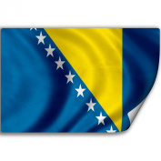 Sticker (Decal) with Flag of Bosnia And Herzegowina