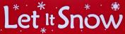 Let It Snow Stencil