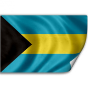 Sticker (Decal) with Flag of Bahamas