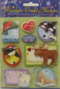 Alaska Scrapbooking Craft Stickers 3-d Wildlife Cartoon