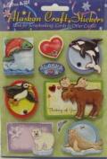 Alaska Scrapbooking Craft Stickers 3-d Wildlife Cartoon