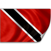 Sticker (Decal) with Flag of Trinidad And Tobago