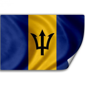 Sticker (Decal) with Flag of Barbados