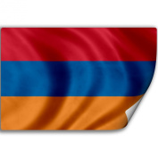 Sticker (Decal) with Flag of Armenia