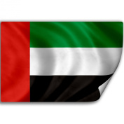 Sticker (Decal) with Flag of United Arab Emirates