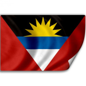 Sticker (Decal) with Flag of Antigua And Barbuda