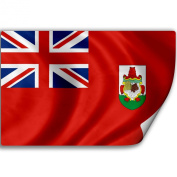 Sticker (Decal) with Flag of Bermuda