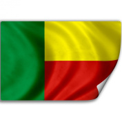 Sticker (Decal) with Flag of Benin