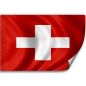 Sticker (Decal) with Flag of Switzerland