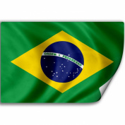 Sticker (Decal) with Flag of Brazil