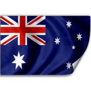 Sticker (Decal) with Flag of Australia
