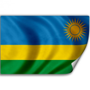 Sticker (Decal) with Flag of Rwanda