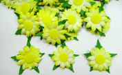 Artificial Mulberry Paper Sunflower Scrapbooking Craft Applique Card Dai. 50 Mm. 50 Pcs.