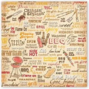 Hot Off the Grill 30cm x 30cm Scrapbook Paper - Set of 2 Sheets