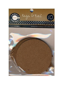 Canvas Corp Tags with Jute Ties round kraft pack of 10