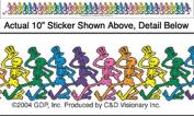 The Grateful Dead Dancing Skeletons Strip Sticker