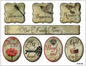 Fabscraps Classic Cardstock Stickers, Assorted, 10cm by 13cm