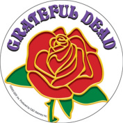 The Grateful Dead Rose With Logo Sticker