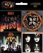 KISS 4 Mini Album Sticker Set