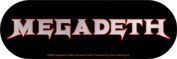 Megadeth Band Logo Sticker