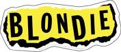 Blondie Torn Paper Logo Sticker