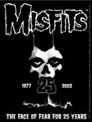 The Misfits 25 Year Skull Of Fear Sticker
