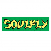 Soulfly Green Sticker