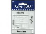 Westrim Paper Bliss Accents - Acrylic Shapes - Words & Phrases
