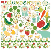 Garden Variety Ready-Set-Chip 12x12 Adhesive Chipboard Sheet