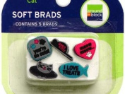 Cat Soft Brads for Scrapbooking