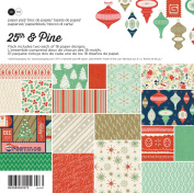 BasicGrey 25th and Pine Collection Paper Pad, 15cm by 15cm