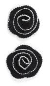 Jolee's Boutique Dimensional Stickers, Black Houndstooth Crochet Flower