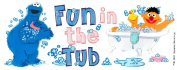 Sesame Street Titlewave Stickers, Fun In The Tub