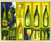 Stamps Happen Wine Collage Mounted Rubber Stamp