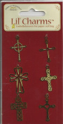 Ornamental Crosses Gold Tone Metal Charms for Scrapbooking
