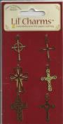 Ornamental Crosses Gold Tone Metal Charms for Scrapbooking