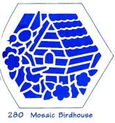 Heritage Handcrafts Stencil - Mosaic Birdhouse