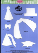 Accucut Jill's Paper Doll Template - Paper Doll Portraits - Celebration Hats