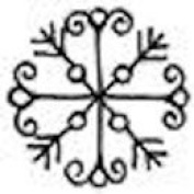 Mini Snowflake Wood Mounted Rubber Stamp