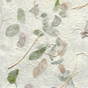 Falling Leaves Paper- Green and Brown 60cm x 80cm