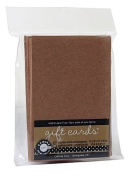Canvas Corp Packaged Cards and Envelopes gift cards with envelopes kraft 6.4cm . x 8.9cm . pack of 8