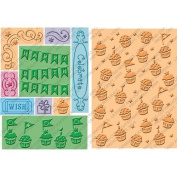 Cuttlebug All-In-One Embossing Plates, Cupcake Celebration