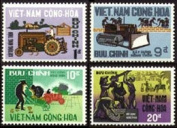 South Vietnam Stamps - 1968, Scott 322-5, Rural Construction Porgram - MNH, F-VF