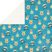Grace Taylor Playtime Paper 30cm x 30cm -Little Monsters